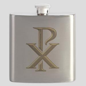Golden 3-D Chiro Flask