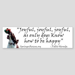Joyful! w/URL Bumper Sticker