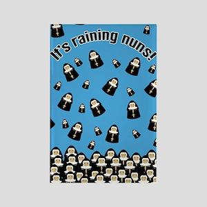 It's Raining Nuns Rectangle Magnet
