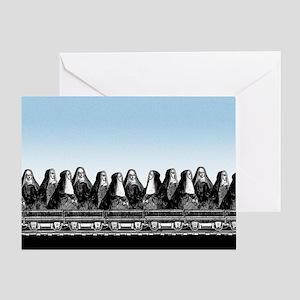 Nun Train Greeting Card