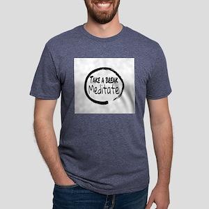 Take a break Meditate Mens Tri-blend T-Shirt