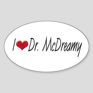 I heart Dr. McDreamy Oval Sticker