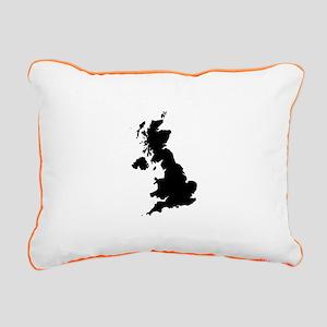Black Rectangular Canvas Pillow