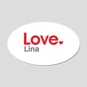 Love Lina Wall Decal