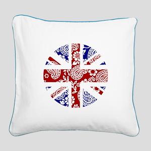 Paisley Jack Square Canvas Pillow