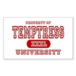 Temptress University Rectangle Sticker