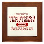 Temptress University Framed Tile