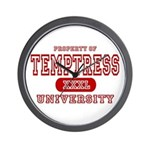 Temptress University Wall Clock