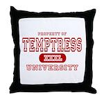 Temptress University Throw Pillow