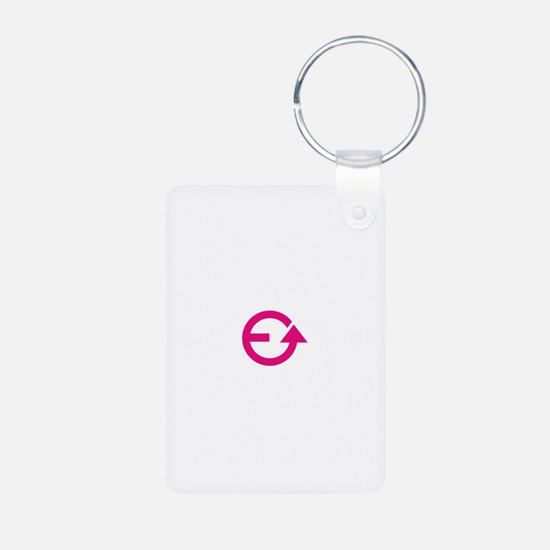Evolve White Pink PNG Keychains