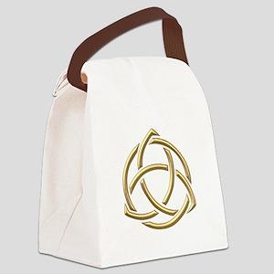 "Golden ""3-D"" Holy Trinity Symbol 1 Canvas Lunch Ba"