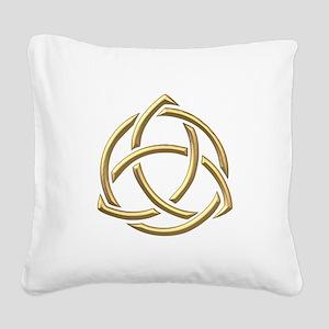 "Golden ""3-D"" Holy Trinity Symbol 1 Square Canvas P"