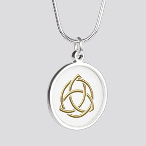 "Golden ""3-D"" Holy Trinity Symbol 1 Silver Round Ne"