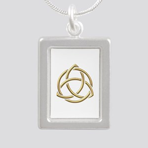 "Golden ""3-D"" Holy Trinity Symbol 1 Silver Portrait"