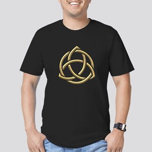 """Golden """"3-D"""" Holy Trinity Symbol 1 Men's Fitted T-"""