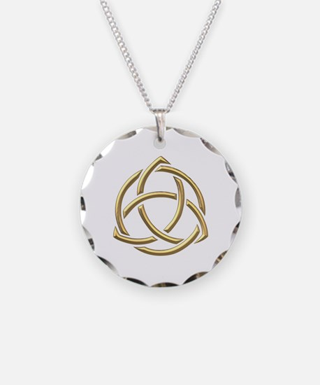 "Golden ""3-D"" Holy Trinity Symbol 1 Necklace"