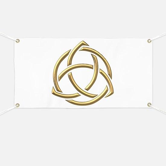 "Golden ""3-D"" Holy Trinity Symbol 1 Banner"