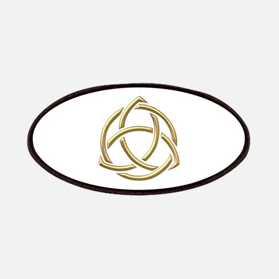 """Golden """"3-D"""" Holy Trinity Symbol 1 Patches"""