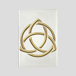 "Golden ""3-D"" Holy Trinity Symbol 1 Rectangle Magne"