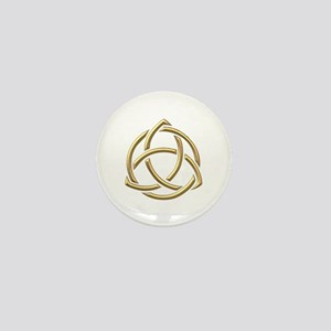 "Golden ""3-D"" Holy Trinity Symbol 1 Mini Button"