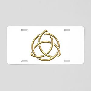"Golden ""3-D"" Holy Trinity Symbol 1 Aluminum Licens"