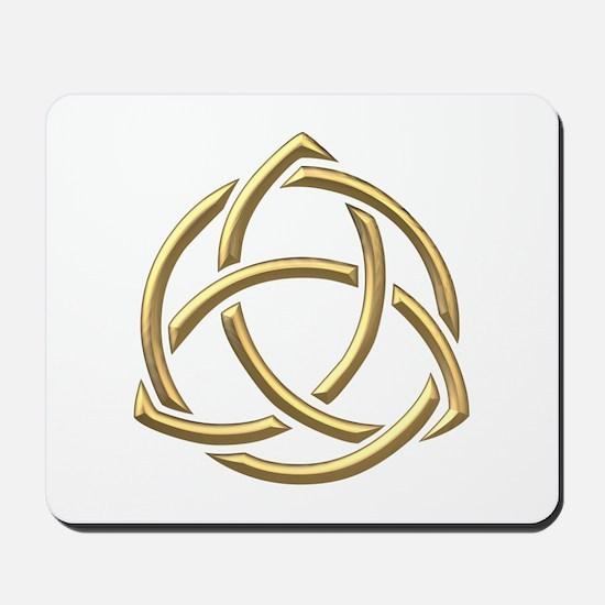 "Golden ""3-D"" Holy Trinity Symbol 1 Mousepad"