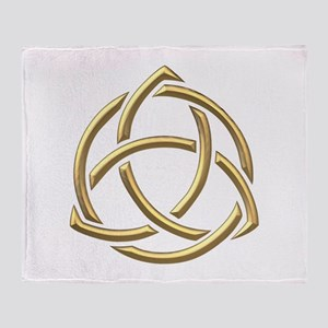 "Golden ""3-D"" Holy Trinity Symbol 1 Throw Blanket"