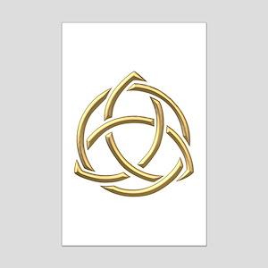 "Golden ""3-D"" Holy Trinity Symbol 1 Mini Poster Pri"
