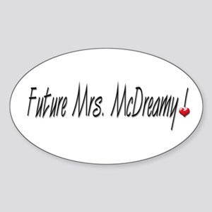 Future Mrs. McDreamy Oval Sticker