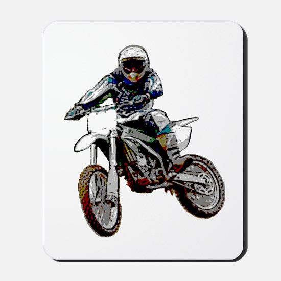 Playing in the dirt with a motorbike Mousepad