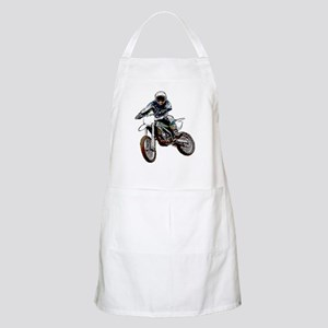 Playing in the dirt with a motorbike BBQ Apron