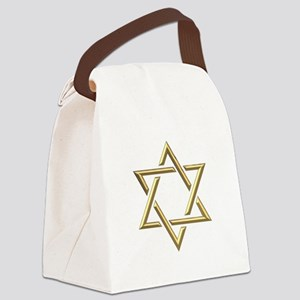 "Golden ""3-D"" Star of David Canvas Lunch Bag"