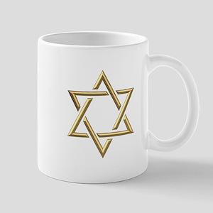 "Golden ""3-D"" Star of David Mug"