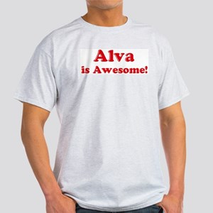 Alva is Awesome Ash Grey T-Shirt