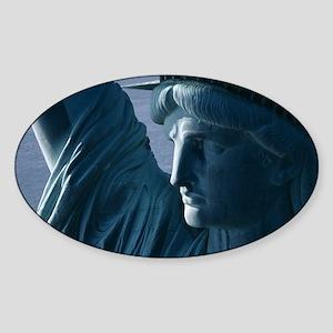 Statue of Liberty Closeup Photograph Sticker