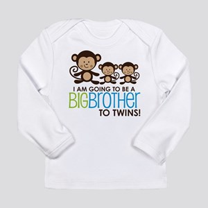 Monkey Big Brother to Twins Long Sleeve T-Shirt