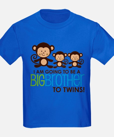 Monkey Big Brother to Twins T-Shirt