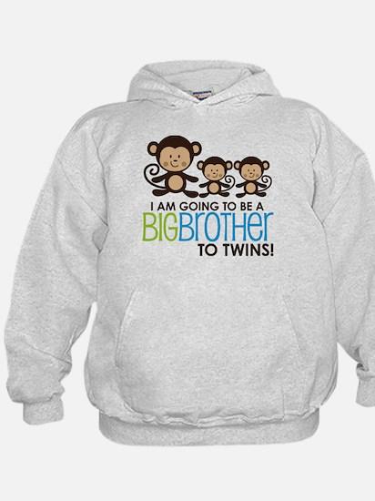 Monkey Big Brother to Twins Sweatshirt