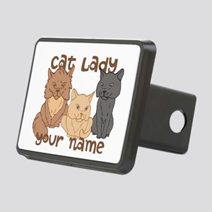 Personalized Cat Lady Hitch Cover