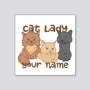 Personalized Cat Lady Sticker