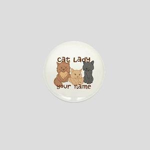 Personalized Cat Lady Mini Button