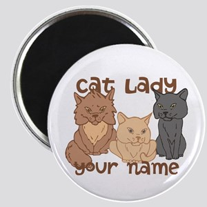 Personalized Cat Lady Magnet