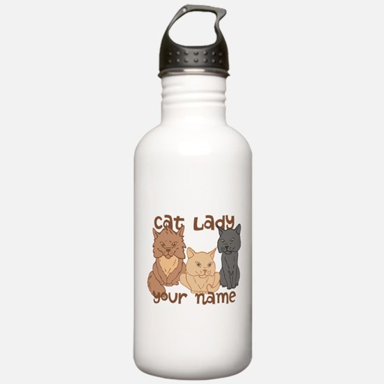 Personalized Cat Lady Water Bottle