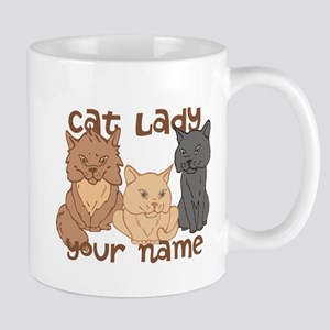 Personalized Cat Lady Mug