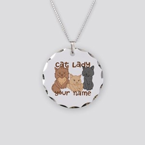 Personalized Cat Lady Necklace
