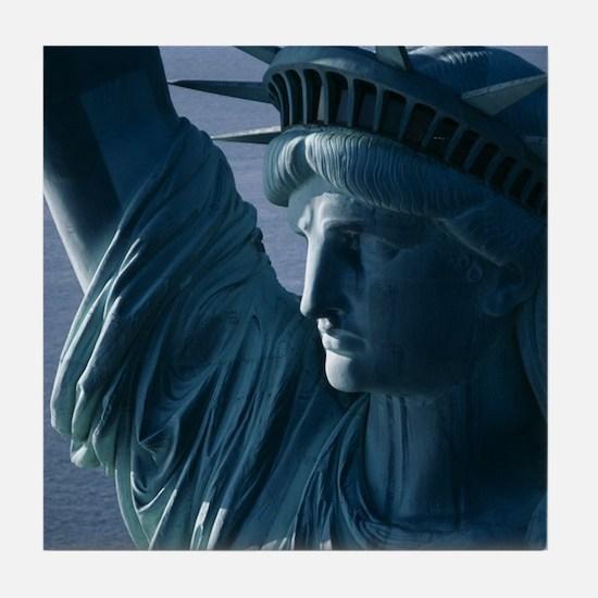 Statue of Liberty Closeup Photograph Tile Coaster