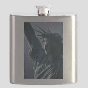 Statue of Liberty Closeup Photograph Flask