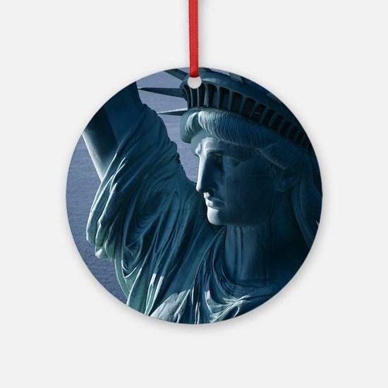 Statue of Liberty Closeup Photograp Round Ornament
