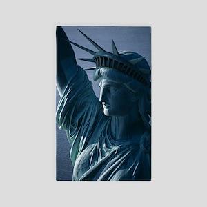 Statue of Liberty Closeup Photograph Area Rug
