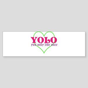 Cute yolo Bumper Sticker